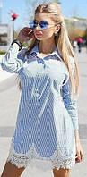 Платье женское с кружевом  вмаг9052, фото 1