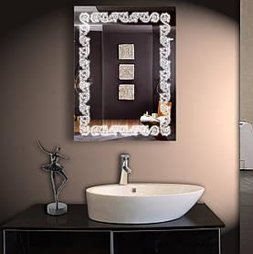 Зеркало LED со светодиодной подсветкой ver-307 800х600 мм