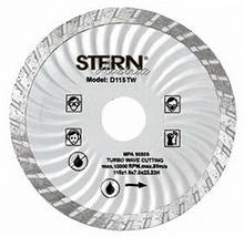 Диск алмазный Stern 115*7*22,2 турбоволна