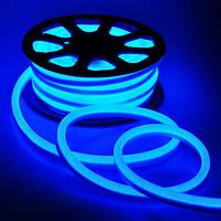 Светодиодная лента Led гибкий неон 220v 8W ip65 BLUE (синий)