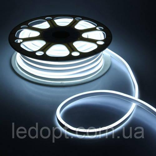Светодиодная лента Led гибкий неон 220v 8W ip65 W (Белый) neon