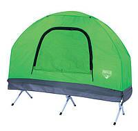 Палатка туристическая одноместная 4 в 1 с раскладушкой и спальным мешком