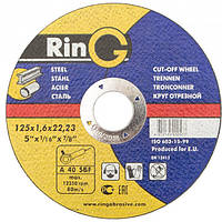 Круг отрезной Ring 125 x 2,5 x 22.23, фото 1
