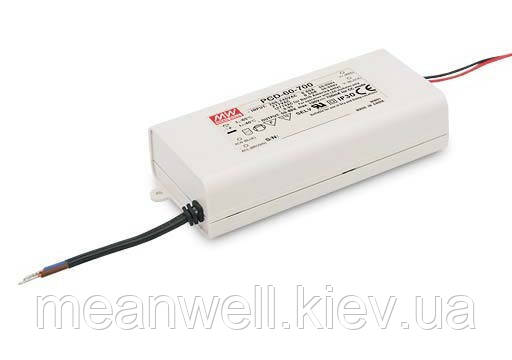 PCD-60-1400B Блок питания Mean Well 60.2 вт, 25-43 в, 1400мА