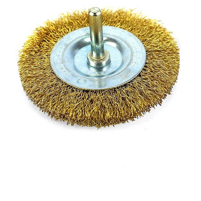 Щетка радиальная для дрели из рифленой проволоки 100 (YDM9002)