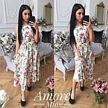 Женское платье -миди с цветочным принтом (5 цветов), фото 2