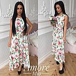 Женское платье -миди с цветочным принтом (5 цветов), фото 3