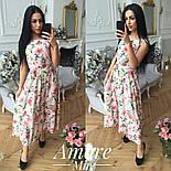 Женское платье -миди с цветочным принтом (5 цветов), фото 4