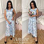Женское платье -миди с цветочным принтом (5 цветов), фото 7