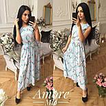 Женское платье -миди с цветочным принтом (5 цветов), фото 8
