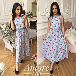 Женское платье -миди с цветочным принтом (5 цветов), фото 10