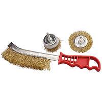 Набор щеток из 3-х шт для дрели и ручной обработки (YDM9020-3)
