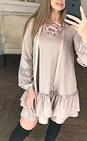 Платье женское расклешенное с воланами  аф131