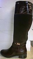 Сапоги женские кожаные высокие, фото 1