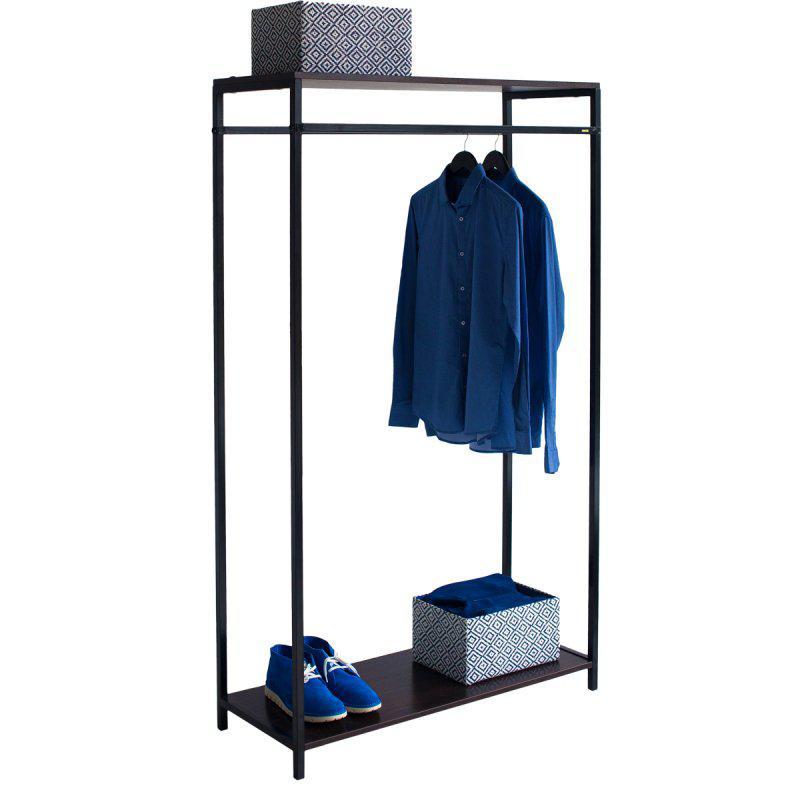Стойка для одежды Квадро 8 (металл/дерево)