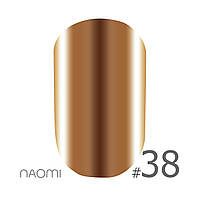 Гель-лак Naomi Metallic Collection M38 (коричневый, металлик), 6 мл