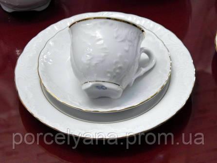 Чашки с блюдцами для эспрессо 6 шт Rococo 3604