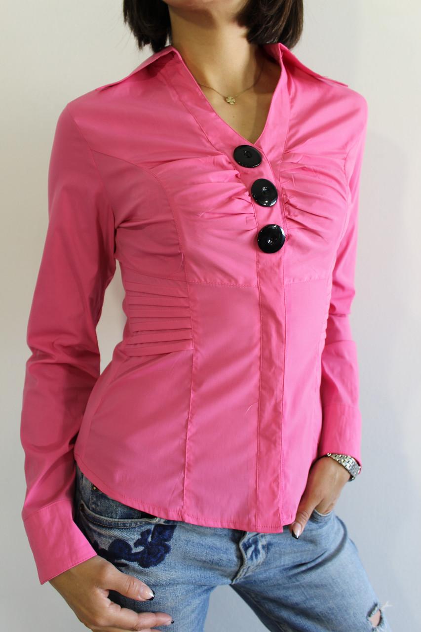Рубашка женская розовая 2250 S.M.XXL
