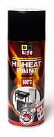 Жаростойкая аэрозольная краска Belife Hi-heat 400мл 1200 черная