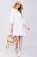 Летнее женское белое платье с кружевом M, L