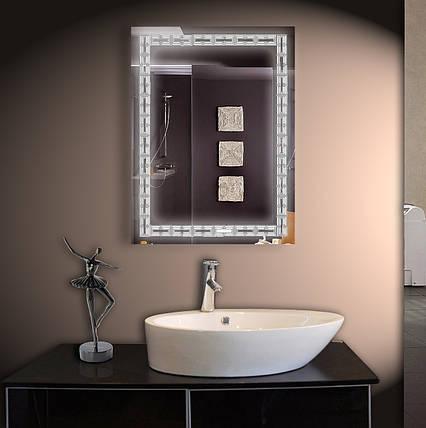 Зеркало LED со светодиодной подсветкой ver-3067 600х800 мм, фото 2