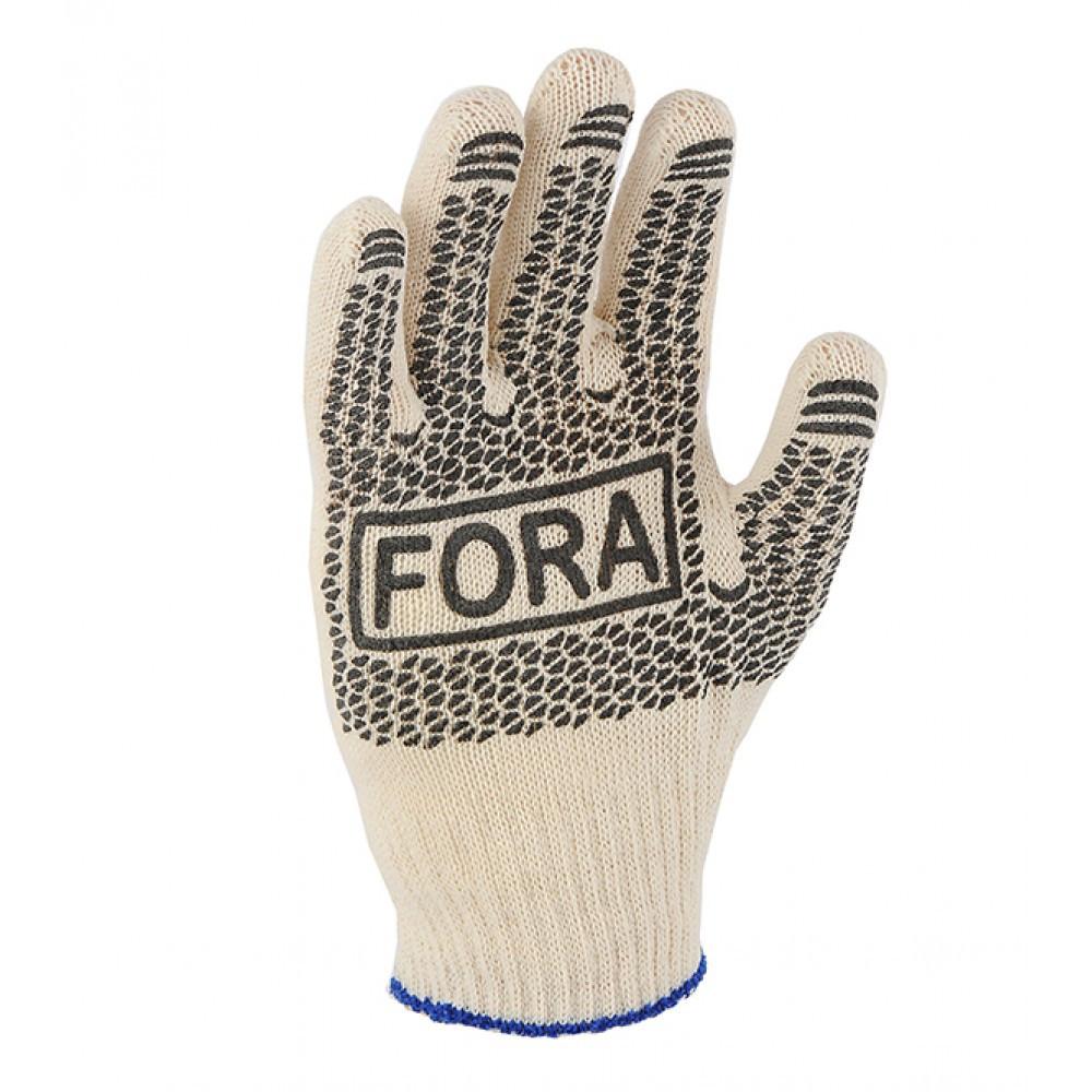 Перчатки Doloni FORA с ПВХ рисунком 15000