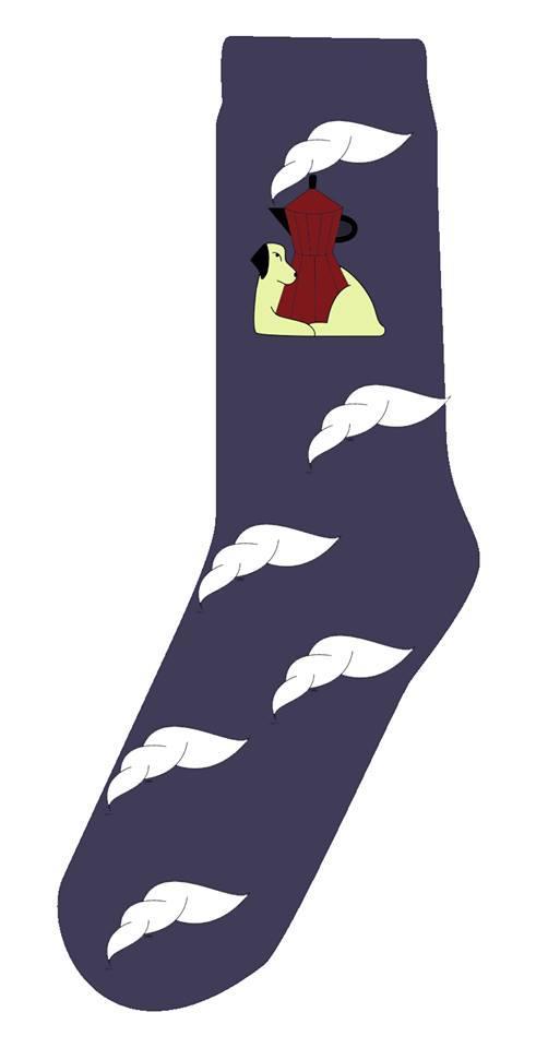 Носки Soberay для бариста и любителей кофе фиолетовые
