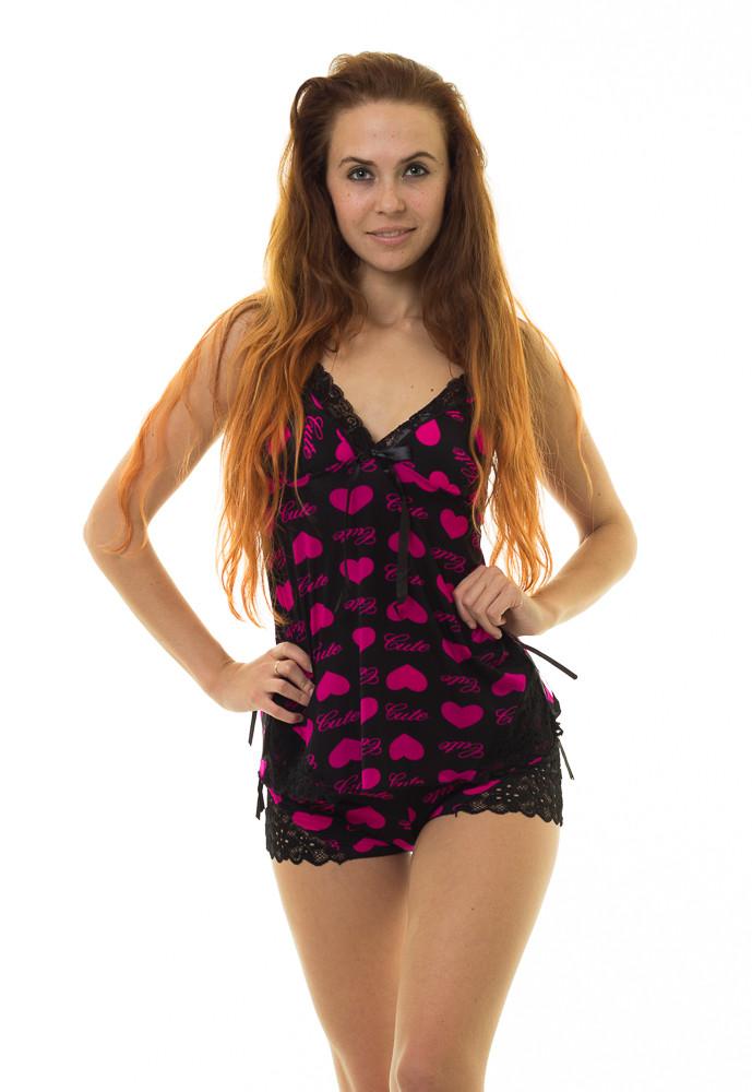 Пижама INDENA Арт.9057 М-L малиновый