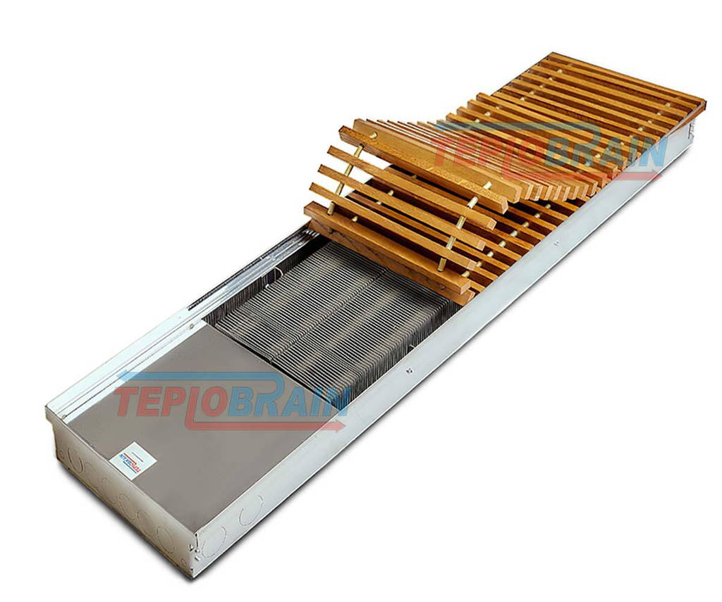 Внутрипольный конвектор без вентилятора TeploBrain SЕ mini 330 - 4х трубный теплообменник