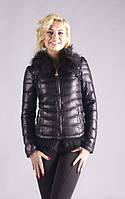 Стильная курточка из кожзама p-8027
