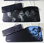 """Игровая поверхность """"Карта черная"""".Большой коврик72*33 см для мышки, фото 5"""