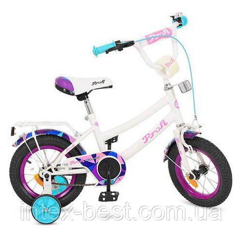 """Двухколесный велосипед Profi Geometry 12"""" Белый (Y12163), фото 2"""