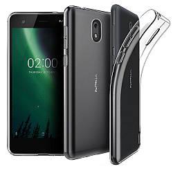 Прозрачный Чехол Nokia 2 (ультратонкий силиконовый) (Нокиа 2)