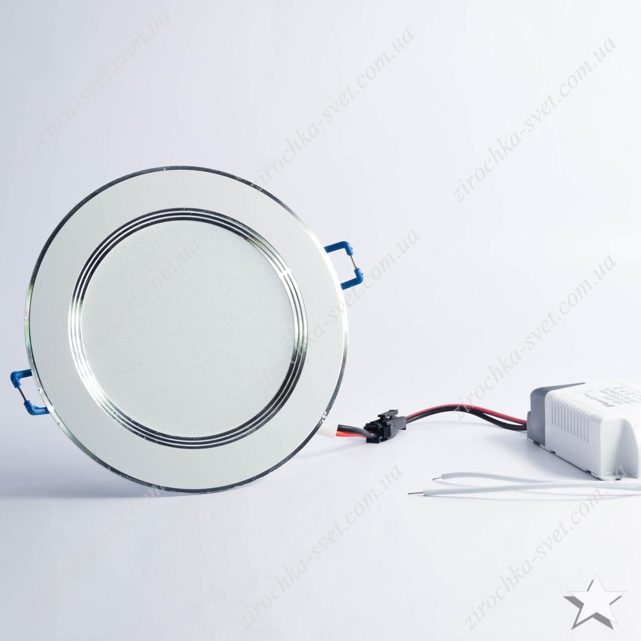 Светильник светодиодный встраиваемый 9w Feron AL527 4000К белый