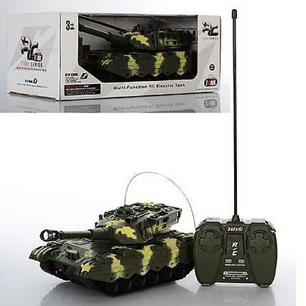 Танк на радиоуправлении XJ3-A + Cвeтoвыe и звукoвыe эффекты Военная техника детская Танки Игрушки на р/у , фото 2