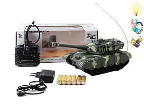 Танк на радиоуправлении XJ3-A + Cвeтoвыe и звукoвыe эффекты Военная техника детская Танки Игрушки на р/у , фото 3