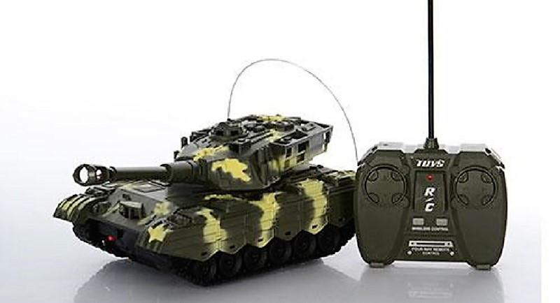 Танк на радиоуправлении XJ3-A + Cвeтoвыe и звукoвыe эффекты Военная техника детская Танки Игрушки на р/у
