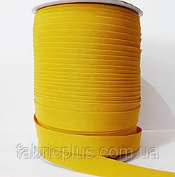 Косая  бейка  матовая 15 мм (038) горчичный