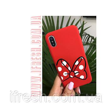 Чехол силиконовый Мини Маус для iPhone X/XS