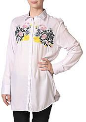 Рубашка женская Zara вышивка