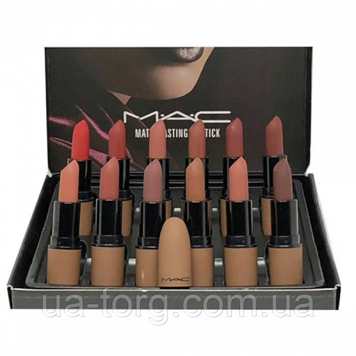 Набор матовых помад для губ MAC Lasting Lipstick