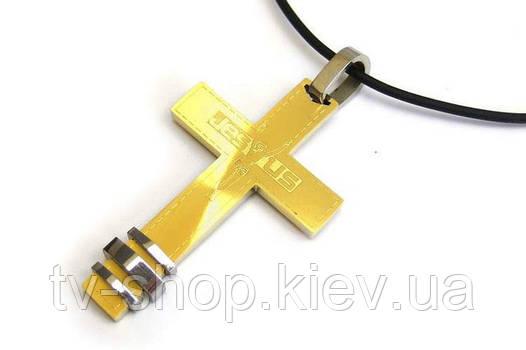 Стальной  крест Jesus
