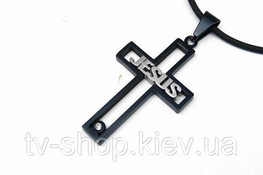 Стальной  Крест черный