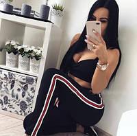 Спортивный костюм женский топ и штаны  вв150, фото 1