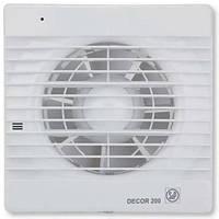 Soler & Palau DECOR-200 CHZ - бытовой вентилятор с клапаном, подшипниками, таймером и датчиком влажности