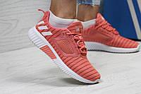 Кроссовки женские Adidas Climacool W персиковые сетка
