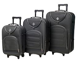 Набор чемоданов на колесах Bonro Lux Серый 3 штуки