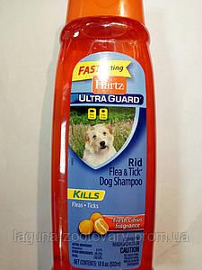 Хартс Ультра Гард Шампунь от блох и клещей  для собак от 12 недель с ароматом цитруса 500мл