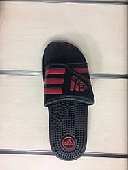 Мужские шлепанцы Adidas Black Red