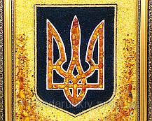 Тризуб Герб Украины из янтаря в подарок руководителю, фото 3